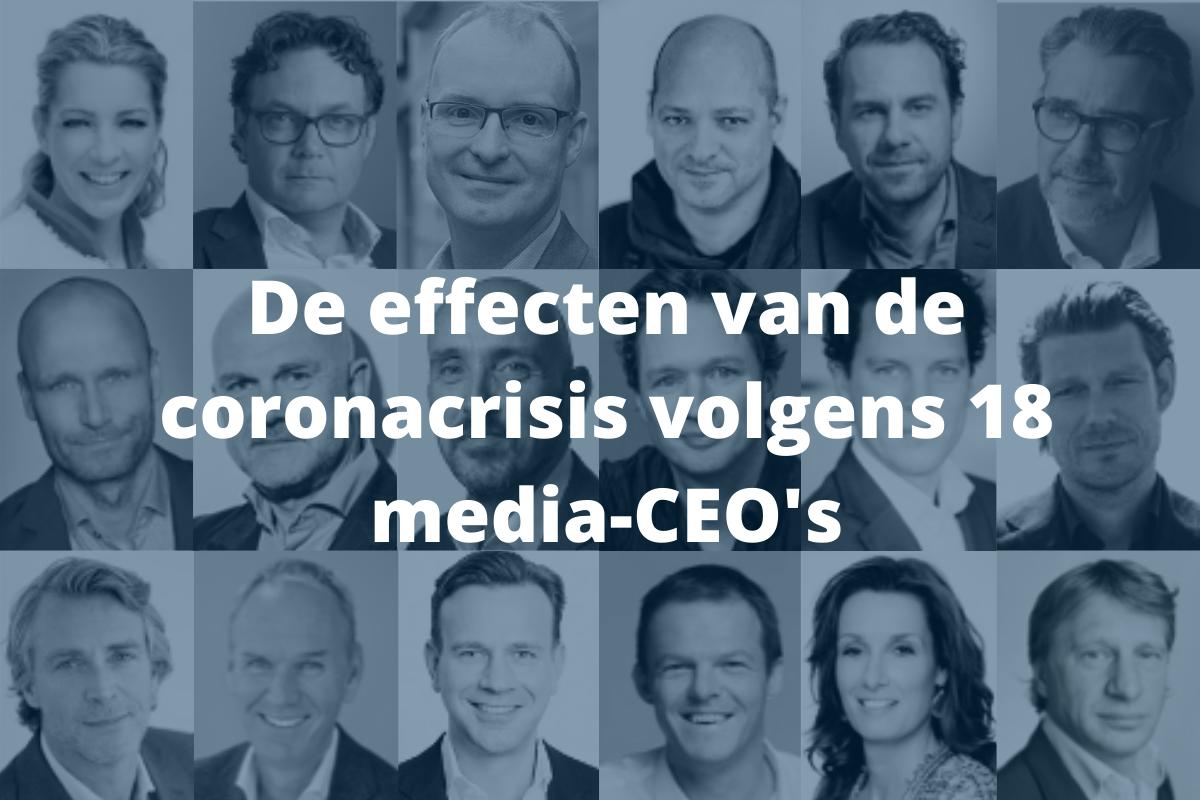 De effecten van de coronacrisis volgens 18 media-CEO's